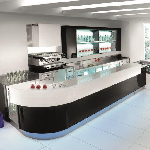 Mobiliario comercial dise o fabricaci n e instalaci n de equipo y mobiliario en diversos - Barras de bar de diseno ...